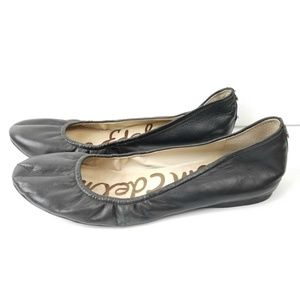 Sam Edelman Noah Black Leather Ballet Flats